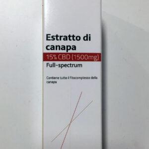 Olio CBD full spectrum 15 % Como